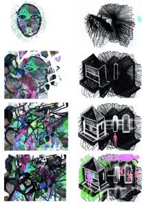 """(Detalle) 250 dibujos digitales a partir de fragmentos de dibujos originales para el video """" En el mismo barco"""""""