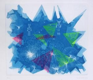 Linóleo y aguatinta / Linocut, etching. 20x17 cm.  Florence 2013. Il Bisonte Foundation